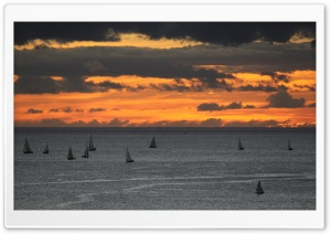 Sunset Sailing HD Wide Wallpaper for Widescreen