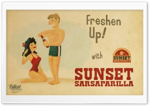 Sunset Sarsaparilla - Fallout New Vegas HD Wide Wallpaper for 4K UHD Widescreen desktop & smartphone