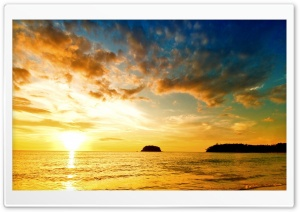 Sunset Sea Beach HD Wide Wallpaper for Widescreen