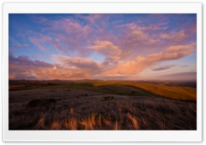 Sunset Sky Over The Hills HD Wide Wallpaper for Widescreen