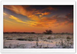 Sunset Sky, Winter HD Wide Wallpaper for Widescreen