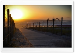 Sunset Stairway HD Wide Wallpaper for Widescreen