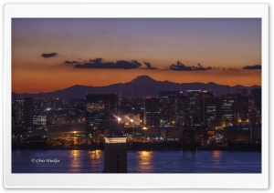 Sunset, Tokyo HD Wide Wallpaper for Widescreen