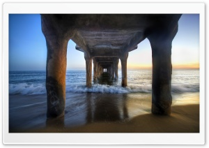 Sunset Under The Pier HD Wide Wallpaper for Widescreen