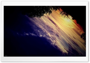 Sunset Upside Down HD Wide Wallpaper for Widescreen