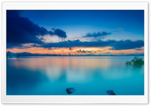 Sunset Waters HD Wide Wallpaper for Widescreen
