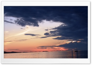 Sunset Zadar Croatia HD Wide Wallpaper for 4K UHD Widescreen desktop & smartphone