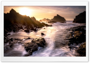 Sunshine, Sea, Rocks Ultra HD Wallpaper for 4K UHD Widescreen desktop, tablet & smartphone