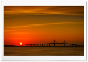 Sunshine Skyway Bridge, Florida Ultra HD Wallpaper for 4K UHD Widescreen desktop, tablet & smartphone