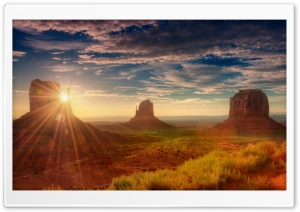 Sunshine Utah Monument Valley Ultra HD Wallpaper for 4K UHD Widescreen desktop, tablet & smartphone