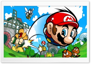 Super Mario HD Wide Wallpaper for Widescreen