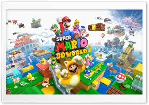 Super Mario 3D World video game HD Wide Wallpaper for Widescreen