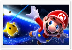 Super Mario Galaxy HD Wide Wallpaper for Widescreen