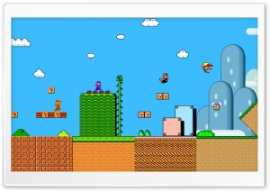Super Mario History HD Wide Wallpaper for 4K UHD Widescreen desktop & smartphone