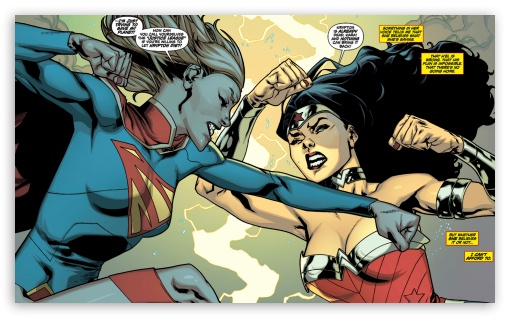 Supergirl Wonder Woman Fight ❤ 4K UHD Wallpaper for Wide 5:3 Widescreen WGA ; 4K UHD 16:9 Ultra High Definition 2160p 1440p 1080p 900p 720p ; Mobile 5:3 16:9 - WGA 2160p 1440p 1080p 900p 720p ;