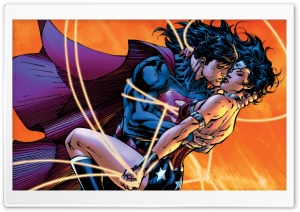 Superman - The Kiss HD Wide Wallpaper for Widescreen