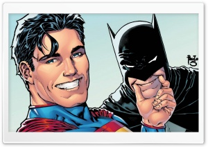 Superman and Batman Selfie HD Wide Wallpaper for Widescreen