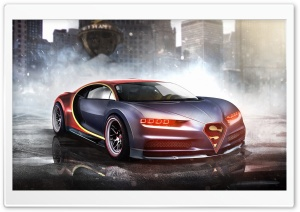 Superman Bugatti Chiron HD Wide Wallpaper for 4K UHD Widescreen desktop & smartphone