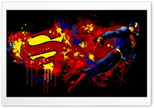 Superman Cartoon HD Wide Wallpaper for Widescreen