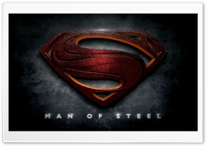 Superman Man of Steel Logo HD Wide Wallpaper for Widescreen