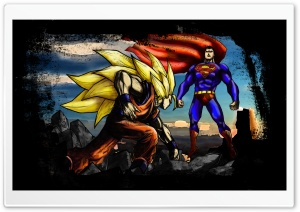 Superman VS Goku HD Wide Wallpaper for 4K UHD Widescreen desktop & smartphone