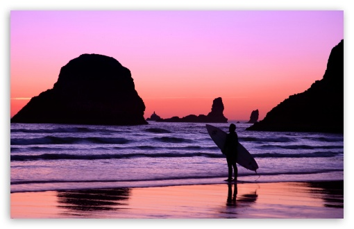 Surfer At Sunset Cannon Beach Oregon HD wallpaper for Wide 16:10 5:3 Widescreen WHXGA WQXGA WUXGA WXGA WGA ; HD 16:9 High Definition WQHD QWXGA 1080p 900p 720p QHD nHD ; Standard 4:3 5:4 3:2 Fullscreen UXGA XGA SVGA QSXGA SXGA DVGA HVGA HQVGA devices ( Apple PowerBook G4 iPhone 4 3G 3GS iPod Touch ) ; Tablet 1:1 ; iPad 1/2/Mini ; Mobile 4:3 5:3 3:2 16:9 5:4 - UXGA XGA SVGA WGA DVGA HVGA HQVGA devices ( Apple PowerBook G4 iPhone 4 3G 3GS iPod Touch ) WQHD QWXGA 1080p 900p 720p QHD nHD QSXGA SXGA ;