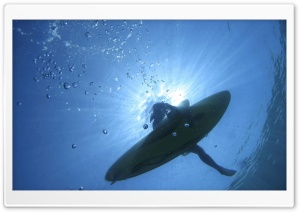 Surfer Floating On The Sea HD Wide Wallpaper for Widescreen