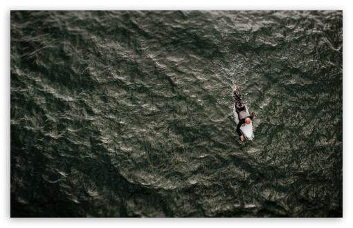 Surfer Guy Surfboard Ocean 4k Hd Desktop Wallpaper For