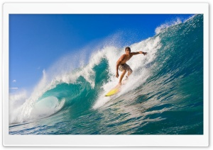 Surfer Riding A Wave HD Wide Wallpaper for Widescreen