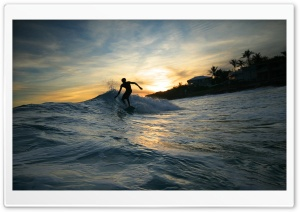 Surfer Silhouette Ultra HD Wallpaper for 4K UHD Widescreen desktop, tablet & smartphone