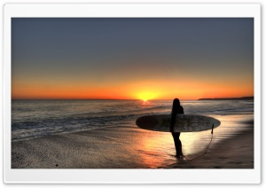 Surfin' the Sunset, San Clemente, CA HD Wide Wallpaper for Widescreen