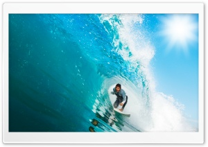Surfing A Wave HD Wide Wallpaper for Widescreen