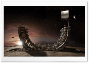 Surreal Art   Skateboard Ramp HD Wide Wallpaper for Widescreen