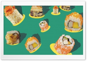 Sushi-Mania 4K Ultra HD Wallpaper for 4K UHD Widescreen desktop, tablet & smartphone