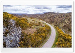 Sutherland Highlands of Scotland, Drone Photography HD Wide Wallpaper for 4K UHD Widescreen desktop & smartphone