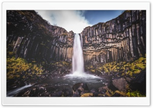 Svartifoss waterfall, Black Falls, Iceland Ultra HD Wallpaper for 4K UHD Widescreen desktop, tablet & smartphone