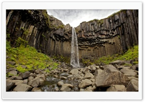 Svartifoss Waterfall Iceland Ultra HD Wallpaper for 4K UHD Widescreen desktop, tablet & smartphone