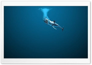 Swallowed By A Whale HD Wide Wallpaper for Widescreen