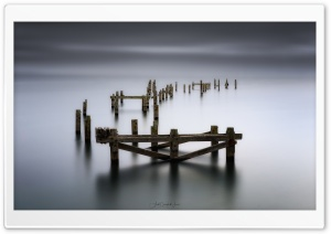 Swanage Abandoned Old Pier Ultra HD Wallpaper for 4K UHD Widescreen desktop, tablet & smartphone