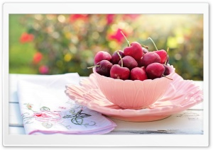 Sweet Cherries HD Wide Wallpaper for Widescreen