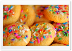 Sweet Rainbow Sugar Cookies HD Wide Wallpaper for Widescreen