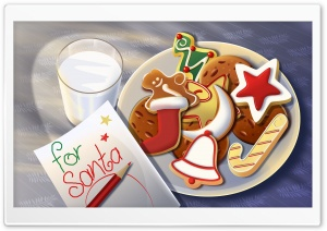 Sweets For Santa HD Wide Wallpaper for Widescreen