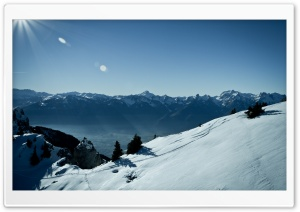 Switzerland Mountains, Winter HD Wide Wallpaper for Widescreen