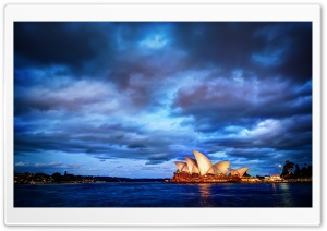 Sydney Glows at Sunset HD Wide Wallpaper for Widescreen