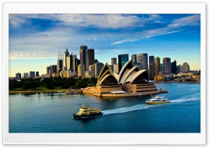 Sydney Opera House, Australia HD Wide Wallpaper for Widescreen