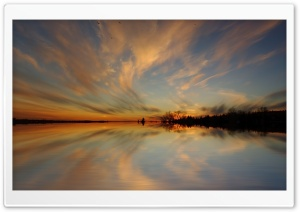 Symmetrical Sky Reflection HD Wide Wallpaper for 4K UHD Widescreen desktop & smartphone