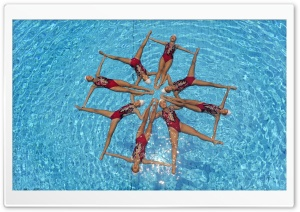Synchronized Swimming HD Wide Wallpaper for Widescreen