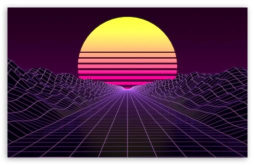 Download Synthwave UltraHD Wallpaper