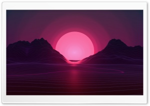 Synthwave Background HD Wide Wallpaper for 4K UHD Widescreen desktop & smartphone
