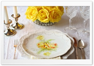 Table Setting HD Wide Wallpaper for Widescreen